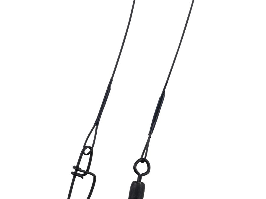 Wire-Wound Steelon Leaders – 12″ 30 lbs, Black