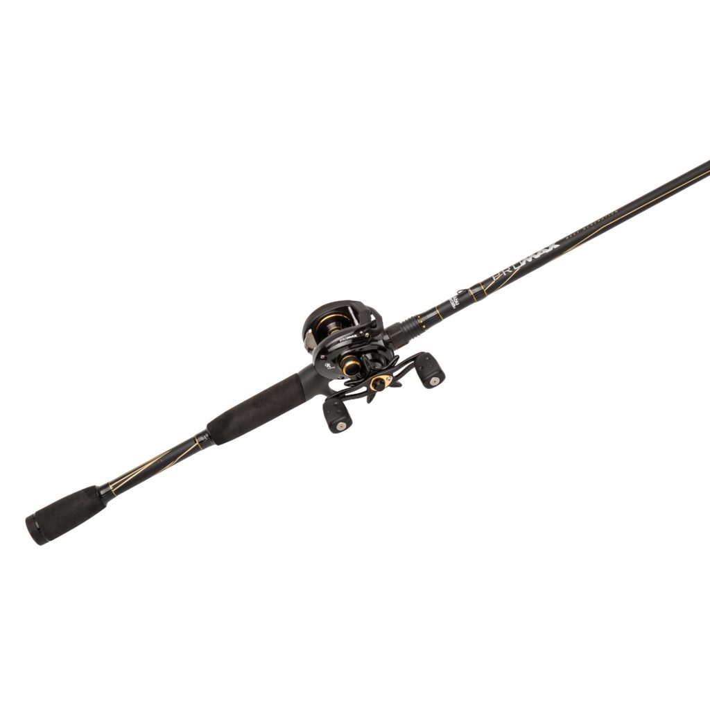 Pro Max Baitcast Low Profile Combo - 7 1:1 Gear Ratio  8 Bearings, 7' 1pc  Rod, 10-20 lb Line Rate, Fast Action, RH