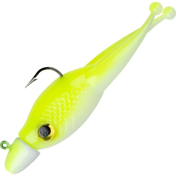 Mr. Crappie Scizzor Shad Jig – 2″ Length, 1-16 oz, Refeigator White, Package of 3